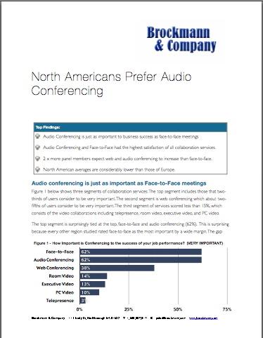 North Americans Prefer Audio Conferencing