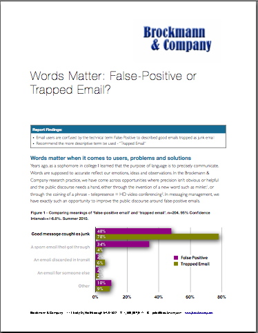 Words Matter: False-Positive or Trapped Email?